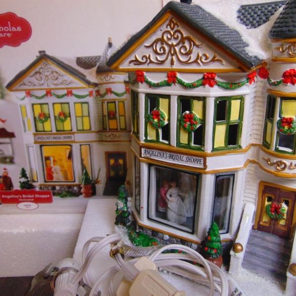 St Nicholas Christmas Village.St Nicholas Square Christmas Village Bridal Shop